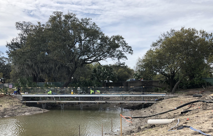 The existing Besthoff Sculpture Garden will connect to its expansion with a 280-foot canal bridge–the first of its kind in the United States–that dips into ...